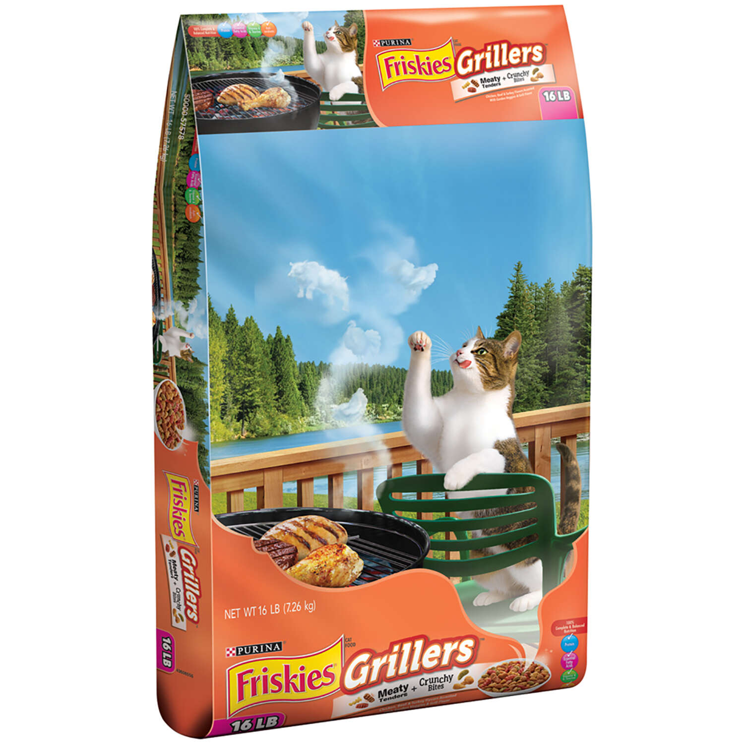 Purina Friskies Grillers Mixed Grill Dry Cat Food 16 lb.