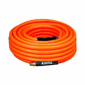 Amflo  100 ft. L x 3/8 in. Dia. Polyvinyl  Air Hose  300 psi Orange