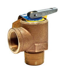 Watts  3/4 in. FPT   x 3/4   MPT  Brass  Boiler Pressure Relief Valve