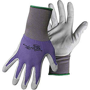 Boss  Ladyfinger  Women's  Indoor/Outdoor  Nitrile Coated  String Knit  Gardening Gloves  Assorted