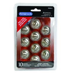 Amerock  Allison  Round  Furniture Knob  1-3/16 in. Dia. 1 in. Satin Nickel  10 pk