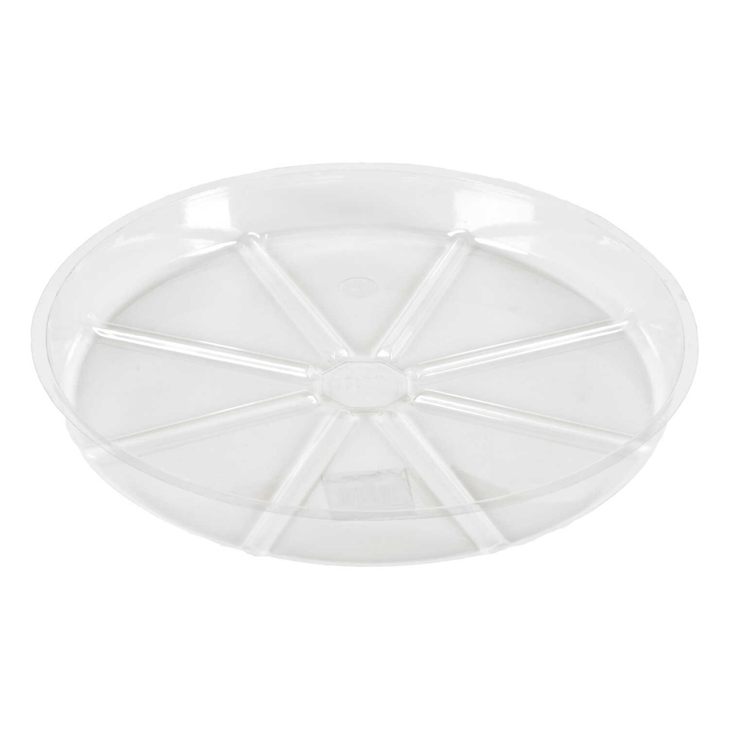 Gardeners Blue Ribbon  14 in. W Vinyl  Clear  Plant Saucer