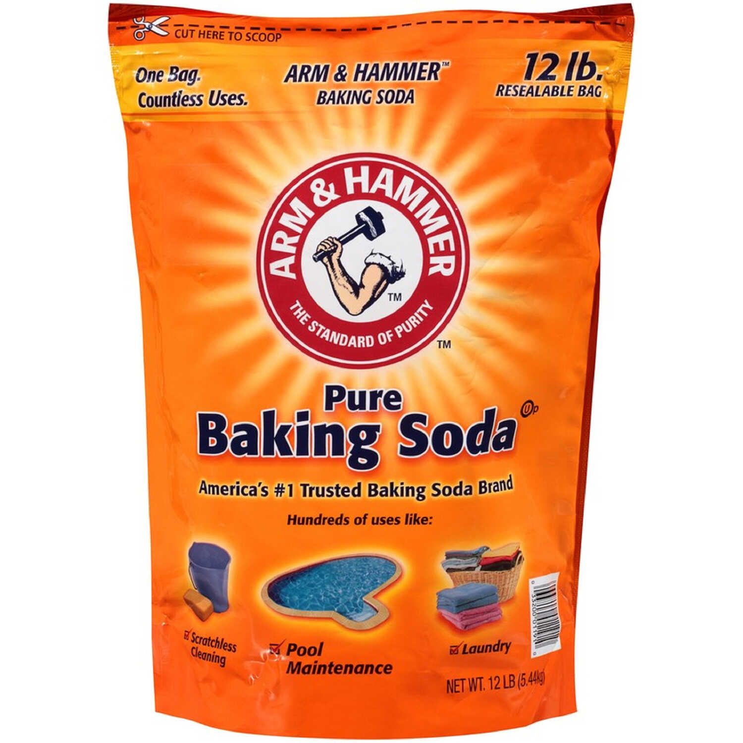 Arm & Hammer  Baking Soda  No Scent Basin Tub and Tile Cleaner  192 oz. Powder