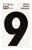 Hy-Ko  3 in. Reflective Black  Vinyl  Self-Adhesive  Number  9  1 pc.