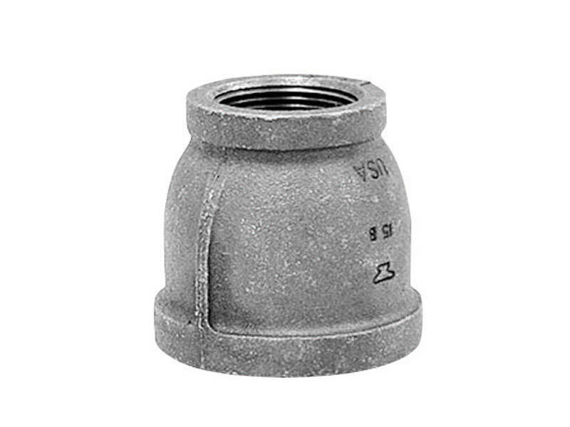 Anvil  3/4 in. FPT   x 1/4 in. Dia. FPT  Black  Malleable Iron  Reducing Coupling