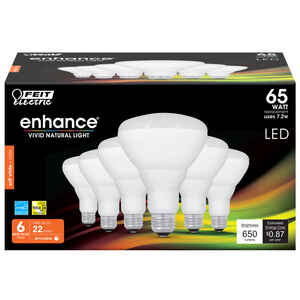 FEIT Electric  7.2 watts BR30  LED Bulb  650 lumens Soft White  65 Watt Equivalence Reflector