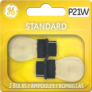 GE Miniature Lamps P21W/BP2 12 volts 2 Carded