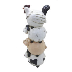 Infinity  Polyresin  Multi-color  18.11 in. Farm Animal  Statue