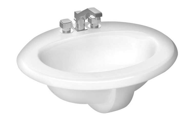 Cato  Oval  Lavatory Sink  White