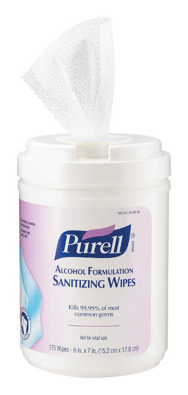Purell Fragrance Free Scent Antibacterial Cleaning Wipes 175 - Ace