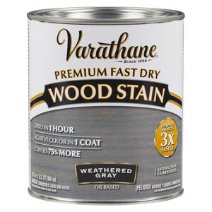 Varathane  Premium Fast Dry  Semi-Transparent  Weathered Gray  Wood Stain  1 qt.