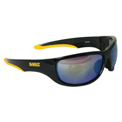 DeWalt  Dominator  Safety Glasses  Yellow Lens Black/Yellow Frame 1 pc.