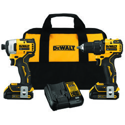 DeWalt  Atomic  Cordless  Brushless 2 tool Compact Drill and Impact Driver Kit  20 volt