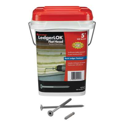 FastenMaster  LedgerLok  No. 14   x 5 in. L Star  Flat Head Structural Screws  1 pk