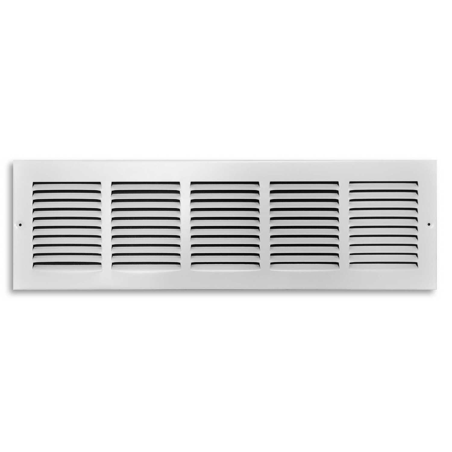 Tru Aire  6 in. H x 1/4 in. D 1-Way  White  Steel  Return Grille Louver