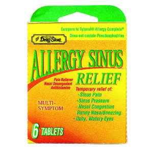 Lil Drug Store  Allergy Sinus Relief  6 pk