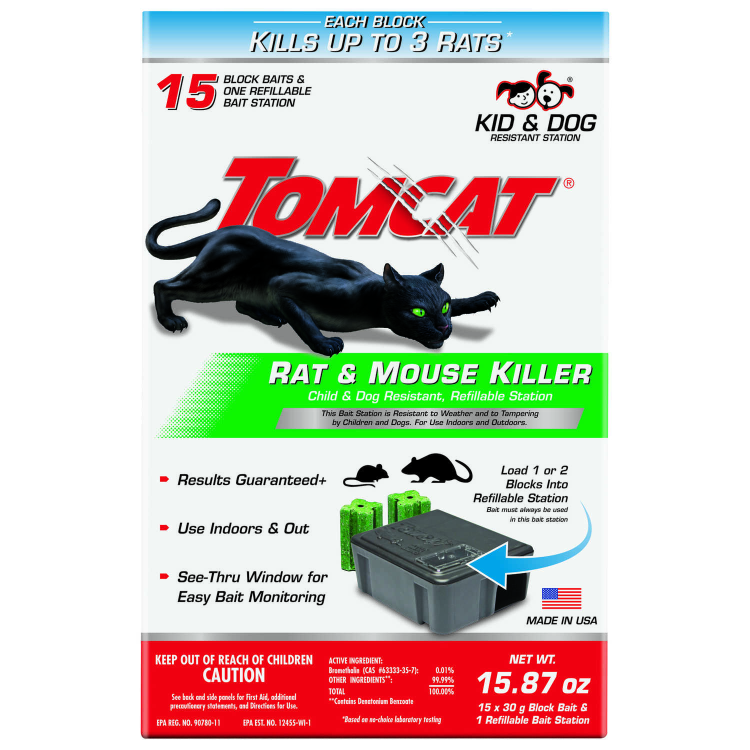 Tomcat  Small  Refillable  Bait Station  For Mice/Rats