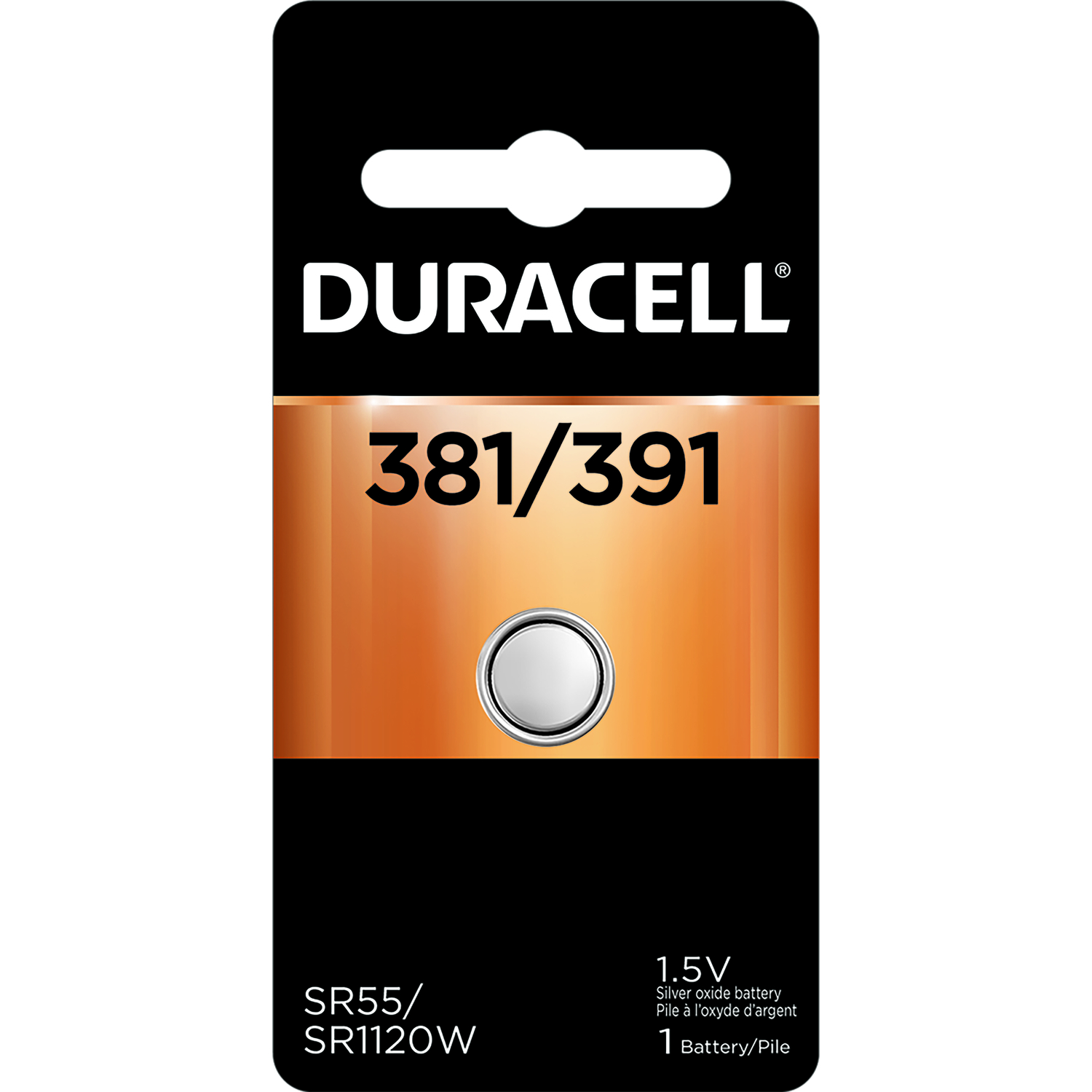 Duracell  Silver Oxide  Electronic/Watch Battery  1 pk 381/391