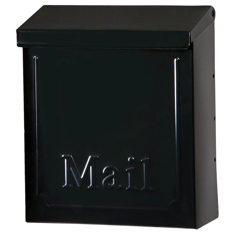 Gibraltar  Vertical  Wall-Mounted  Black  4 in. W x 9 in. L x 10-1/2 in. H x 10-1/2 in. H Galvanized