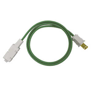 FabCordz  Indoor  6 ft. L Green  Extension Cord  16/2