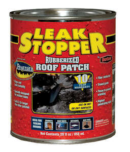Leak Stopper  Gloss  Black  Rubber  Leak Stopper Roof Patch  1 qt.