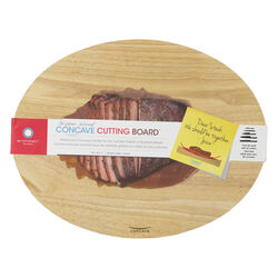Architec Gripperwood 18 in. L x 14 in. W Rubberwood Concave Carving Board
