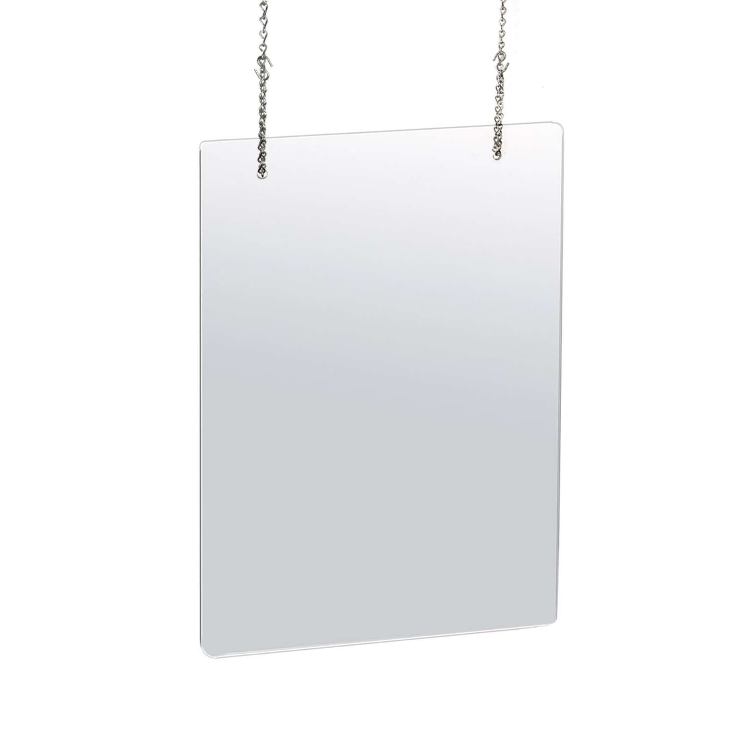 Azar  31.5 in. H x 23.5 in. W Clear  Hanging Cashier Shield  2 pk