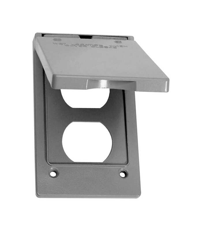 Sigma  Rectangle  Aluminum  1 gang Electrical Cover  For 1 Duplex Receptacle