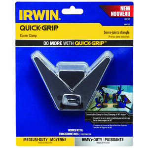 Irwin  Quick-Grip  4 in.  Plastic  Corner Clamp  1 pk