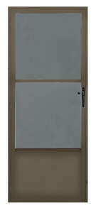 Croft  80  H x 32  W Mid-View  Reversible Self-Storing Storm Door  Aluminum/Bronze  Bronze