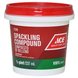 Ace Vinyl Ready to Use Off-White Spackling Compound 0.5 pt.