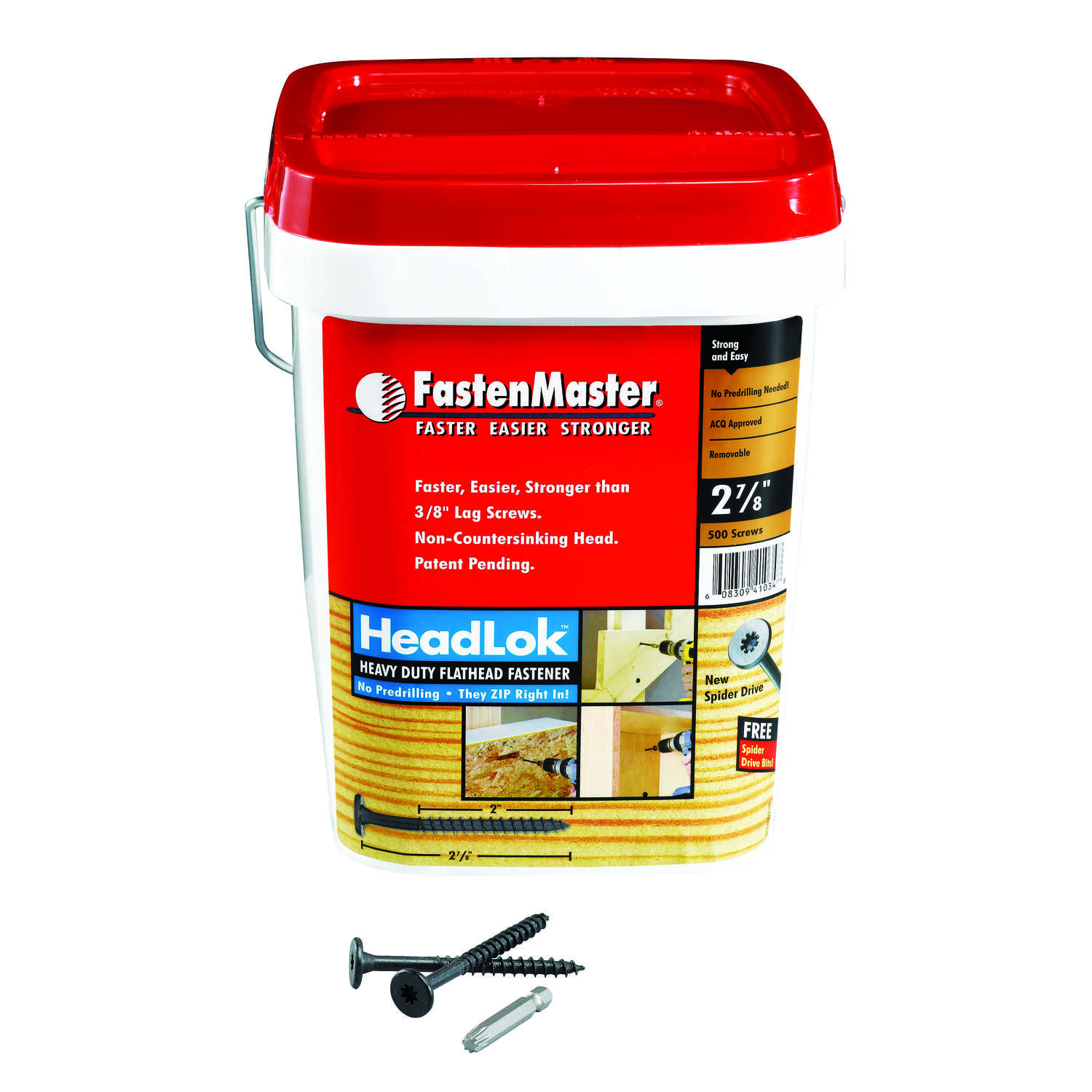 FastenMaster  HeadLok  No. 10   x 2-7/8 in. L Spider  Epoxy  Wood Screws  500 pk