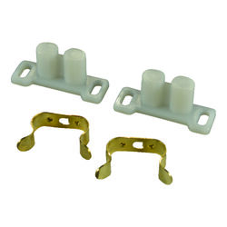 US Hardware  White  Metal/Plastic  Catch and Clip  2 pk