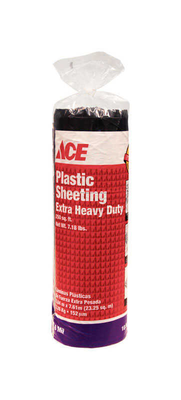 Ace Plastic Sheeting 6 Mil X 10 Ft W X 25 Ft L