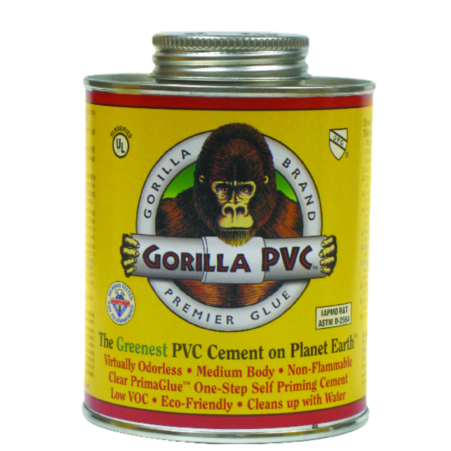 Gorilla PVC  PrimaGlue  Clear  Primer and Cement  For PVC 16 oz.