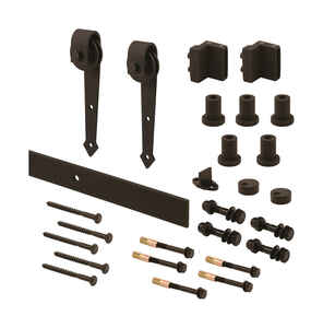 Prime-Line  Black  Steel  Barn Door Hanger Kit  1 pk