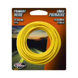 Coleman Cable 11 ft. 12 Ga. Primary Wire Yellow
