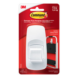 3M  Command  Jumbo  Plastic  Hook  4-1/4 in. L 1 pk