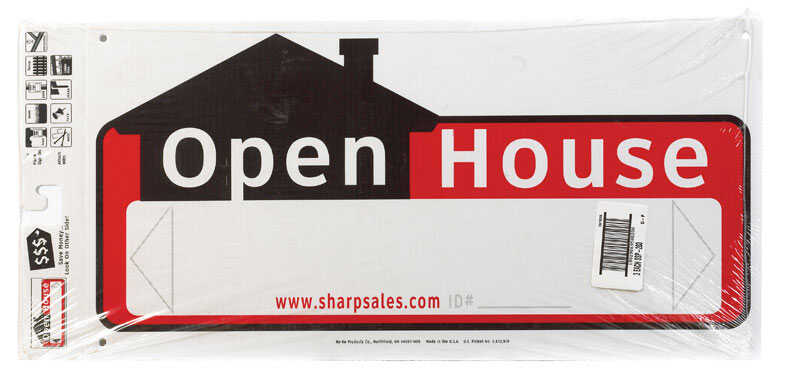 Hy-Ko  English  Open House  Sign  Plastic  10 in. H x 22 in. W