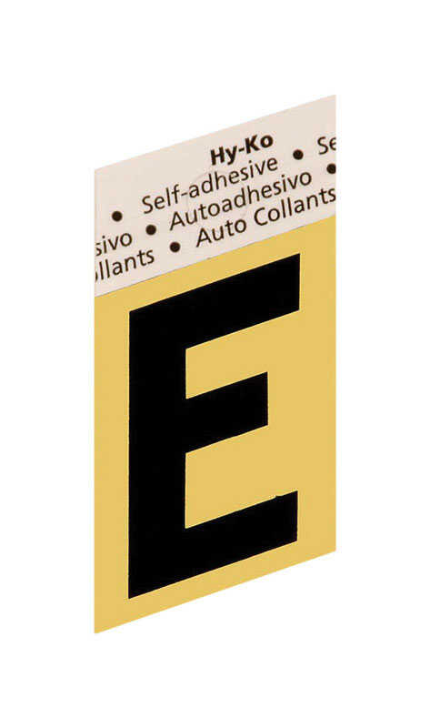 Hy-Ko  1-1/2 in. E  Black  Aluminum  Letter  Self-Adhesive