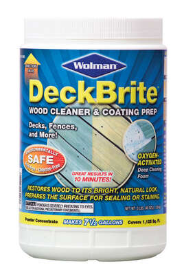 Wolman  DeckBrite  Transparent  Wood Cleaner and Coating Prep  3 lb.