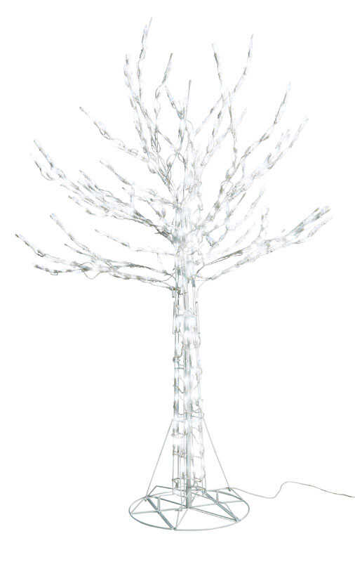 Santa's Best  LED Branch Christmas Tree  Silhouette  White  Wire  1 each