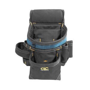 CLC  28 pocket Ballistic Nylon  Tool Belt with Suspenders  23 in. L x 16-1/2 in. H Black  29 in. 46