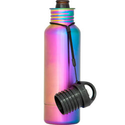 BottleKeeper  The Standard 2.0  Insulated Bottle Koozie  12 oz. Neo Chrome  1 pk
