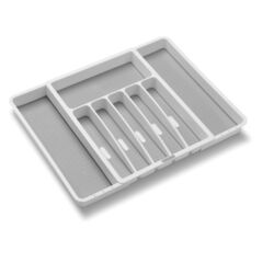 Madesmart 2.1 in. H x 13.25 in. W x 16.13 in. D Plastic Adjustable Silverware Tray