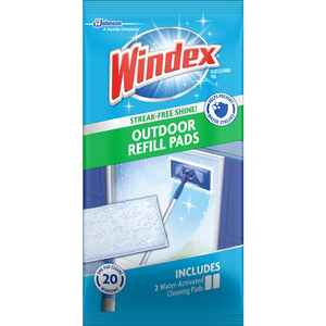 Windex  Outdoor All-In-One  No Scent Glass Cleaner Refill  2 pk Wipes