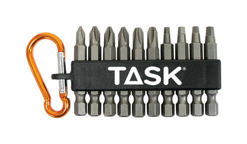 Task Tools  1/4 in. Dia. x 2 in. L Drill Bit  Hex  Steel  10 pc.