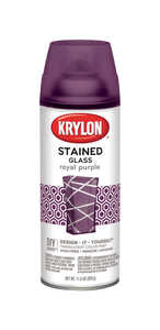 Krylon  Stained Glass  Spray Paint  11.5 oz. Royal Purple
