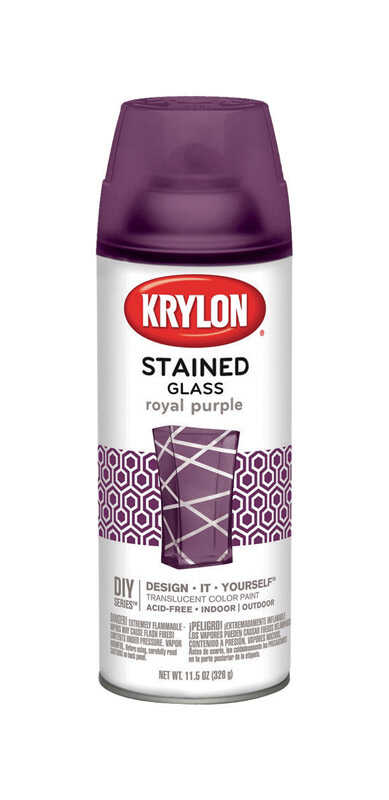 Krylon  Stained Glass  Translucent  Spray Paint  11.5 oz. Royal Purple