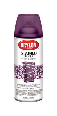 Krylon  Stained Glass  Translucent  Royal Purple  Spray Paint  11.5 oz.